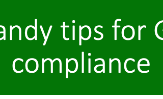 10 handy tips for GDPR compliance